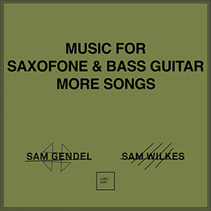 Review of Sam Gendel and Sam Wilkes: Music for Saxofone and Bass Guitar – More Songs